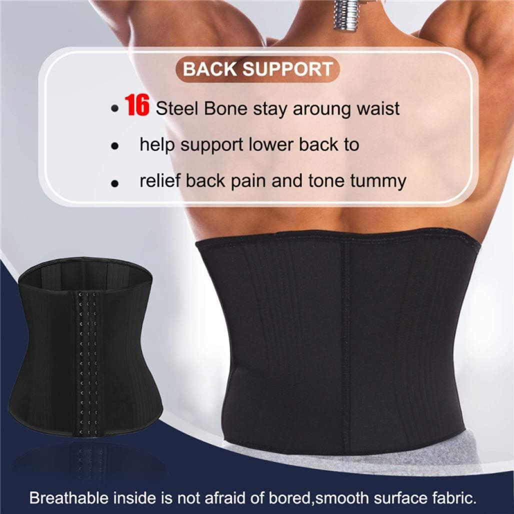 IUKURU Men 16 Steel Bone Firm Body Shaper Waist Trainer Male Shapewear Corset Slim Belt Strap