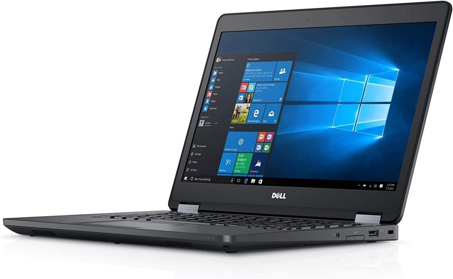 Fast Dell Latitude E5470 HD Business Laptop Notebook PC - No Webcam - (Intel Core i5-6300U, 8GB Ram, 256GB Solid State SSD, HDMI, NO-Camera, WiFi, SC Card Reader   Win 10 Pro (Renewed).