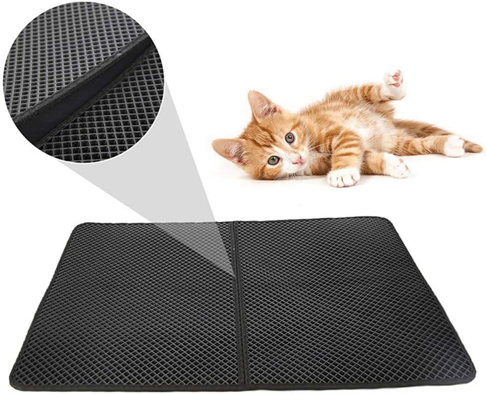 Suhey Afombra para Gatos, Diseño de Doble Capa de Nido de Abeja de Caja de Arena para Gatos a Prueba de orina, Control de Basura Limpio y Simple: Amazon.es: Productos para mascotas
