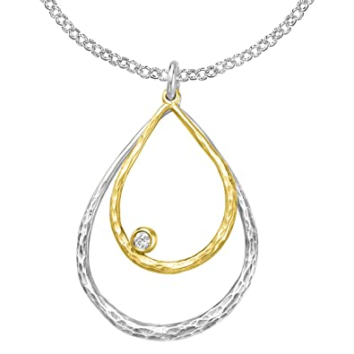 DOWER & HALL Entwined Yellow Gold Plated Infinity Symbols 46cm Silver Chain Necklace br5oL