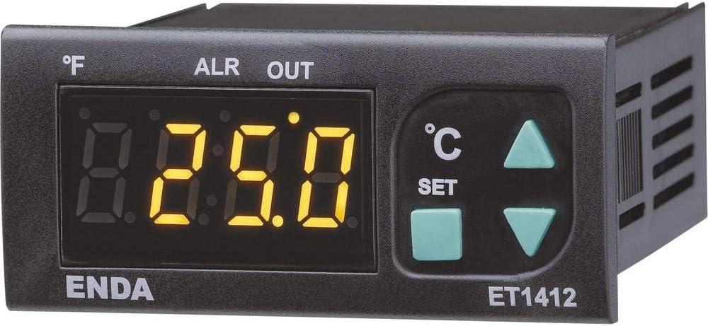 L x B x H 60 bis 150 /°C Relais 8 A Enda ET2412-230-08 Temperaturregler NTC 71 x 77 x 35 mm