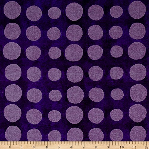 Blank Quilting 0462056 Pearlized Dot Purple Metallic Fabric by The -