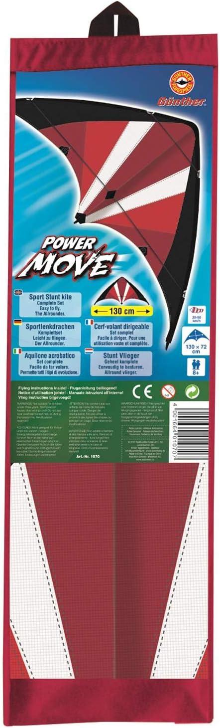 Sportlenkdrachen Power Move ca Paul G/ünther 1031 130 x 69 cm
