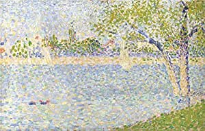 Oil painting 'Georges Seurat The Seine seen from La Grande Jatte ' printing on Perfect effect canvas , 10 x 16 inch / 25 x 40 cm ,the best Wall art decoration and Home artwork and Gifts is this Replica Art DecorativeCanvas Prints