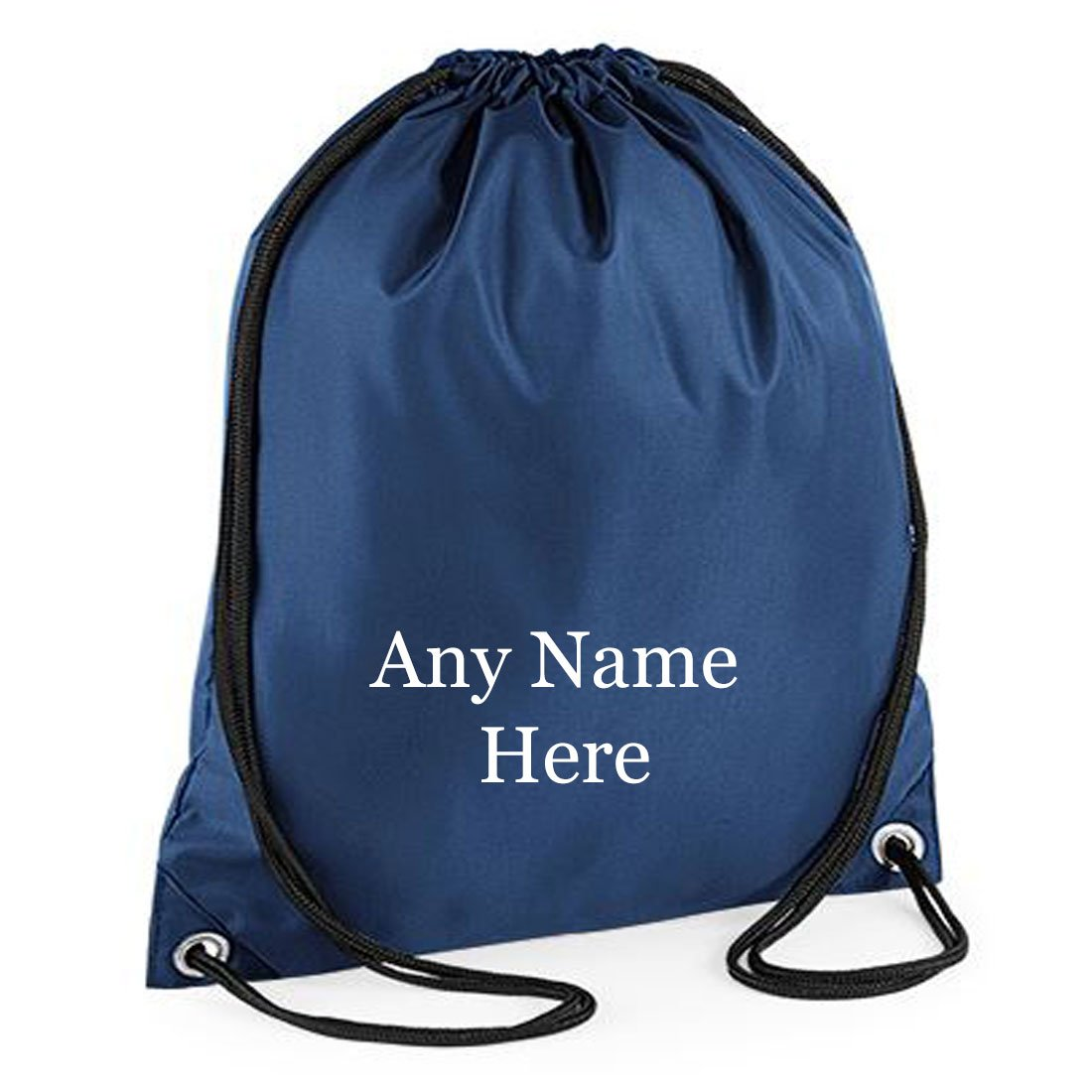 PERSONALISED POLYESTER DRAWSTRING BAG PE GYM SWIM BOYS GIRLS CUSTOM NAME NEW