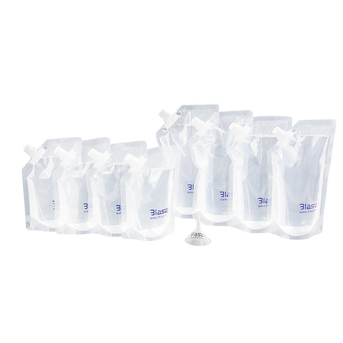 Blasani escamotables Croisière Rhum introduire des Flasque kit Lot de 4 x 453,6 gram, 4 x 226,8 gram)
