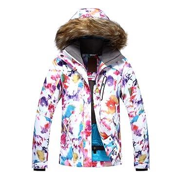 KD Chaqueta de esquí Invierno Caliente Senderismo frío Invierno montañismo Abrigo Deportivo al Aire Libre Chaqueta Impermeable y frío,XS: Amazon.es: ...