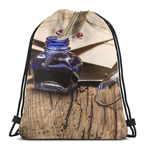 e93275e8a376 Amazon.com: Yunshm Ss Lightweight Drawstring Bag Fitness Yoga Gym ...