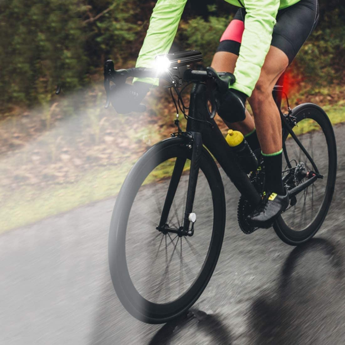 Nestling®Luz Bicicleta, Luces Bicicleta Recargable USB, Lámpara Bicicleta LED Impermeable, 800 Lúmenes Súper Potente, 5 Modos Iluminación, Luces Bicicleta Delantera y Trasera Kit: Amazon.es: Deportes y aire libre