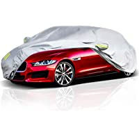 ELUTO Car Cover Outdoor Sedan Cover Waterproof Windproof All Weather Scratch… photo
