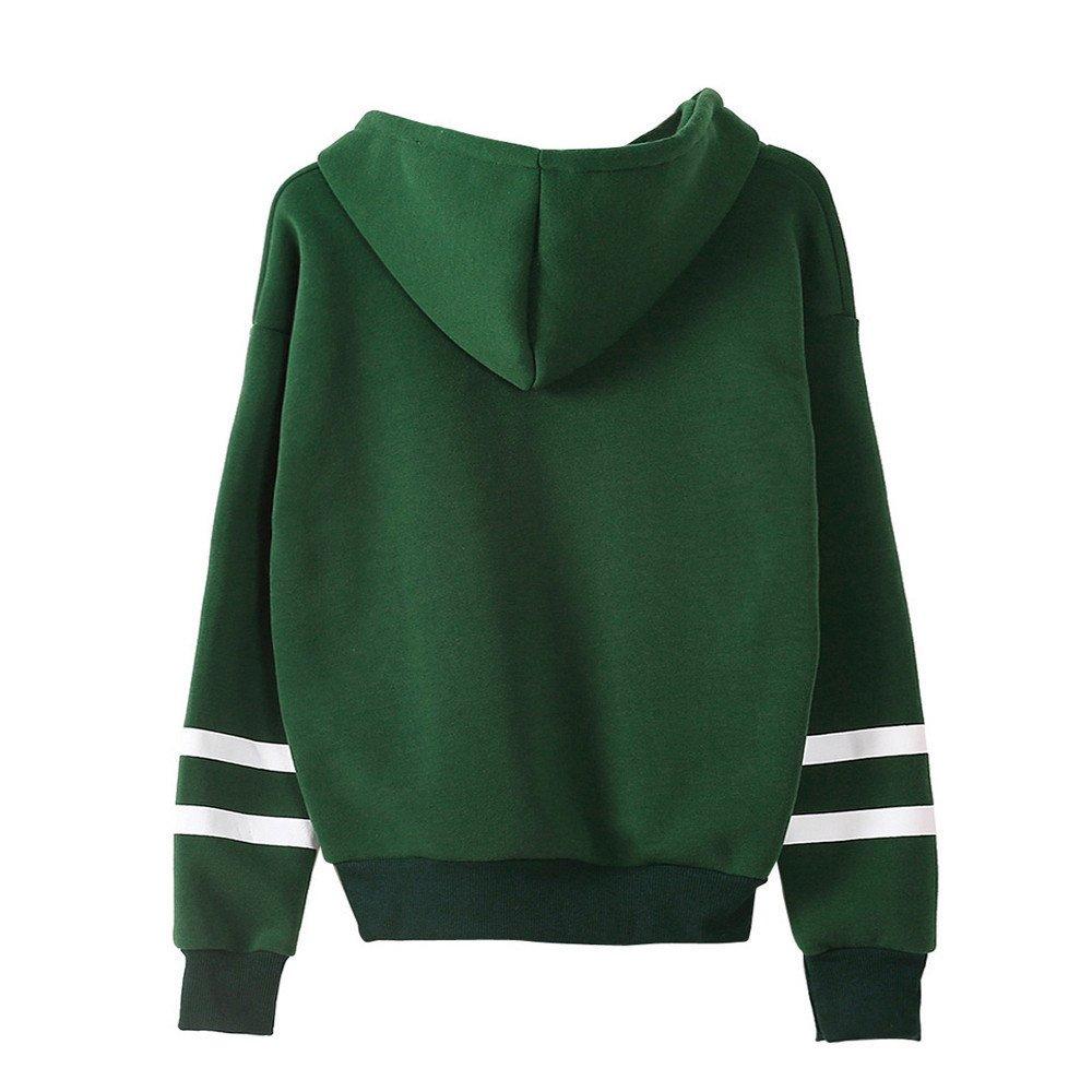 F/_Gotal Women Applique Rose Striped Drawst Hoodie Sweatshirt Striped Sleeves Jumper Crop Pullover Top for Teen Girls