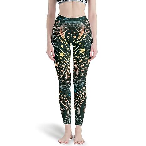 XJJ88 - Pantalones de Sol para Mujer, diseño de Mandala ...