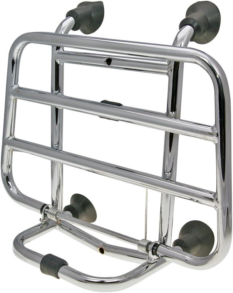 Top case bretelles//Porte-bagages pliable Chrom/é Vespa LX S LXV