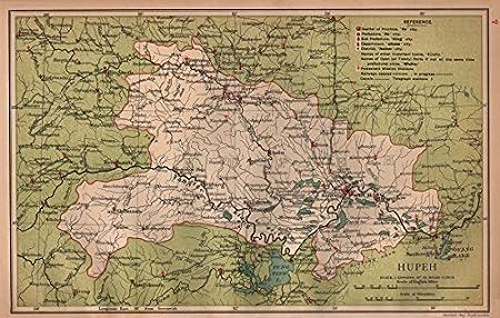 Cartina Cina Con Province.Hupeh Hubei Cina Province Mappa Megalobrama Wuhan Stanford 1908 Old Antique Mappa Vintage Stampato Mappe Della Cina Amazon It Casa E Cucina
