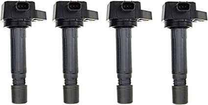 Pack of 4 CIVIC Ignition Coils for 2006-2011 Honda L4 1.8L fits UF582 UF-582 C1580