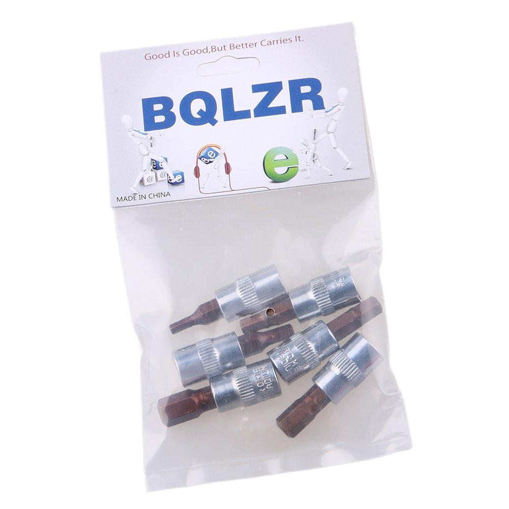 BQLZR S2 Alloy Steel 1//4 Inch Drive Metric Hex Bit Socket Set HW3 HW4 HW5 HW6 HW7 HW8 Pack of 6