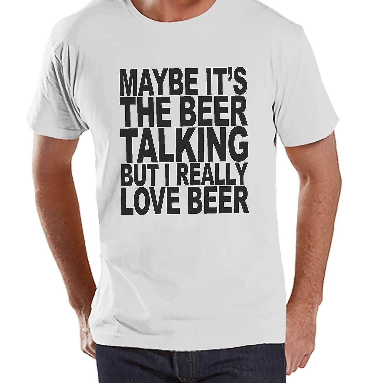 Custom Party Shop Mens I Love Beer Funny T-Shirt