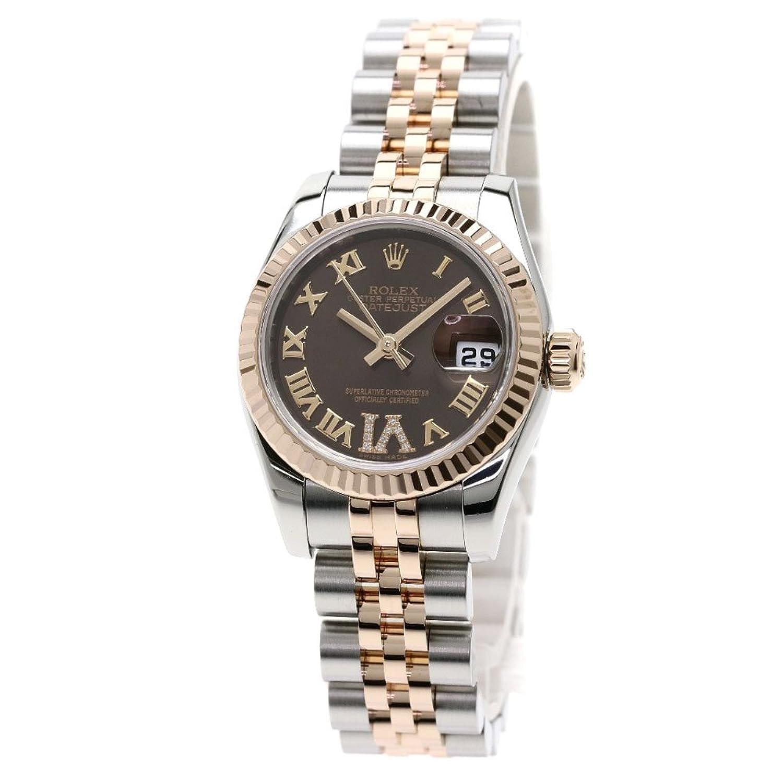 [ロレックス]デイトジャスト 腕時計 ステンレススチール/SSxK18PG レディース (中古) B07D8JG6MV