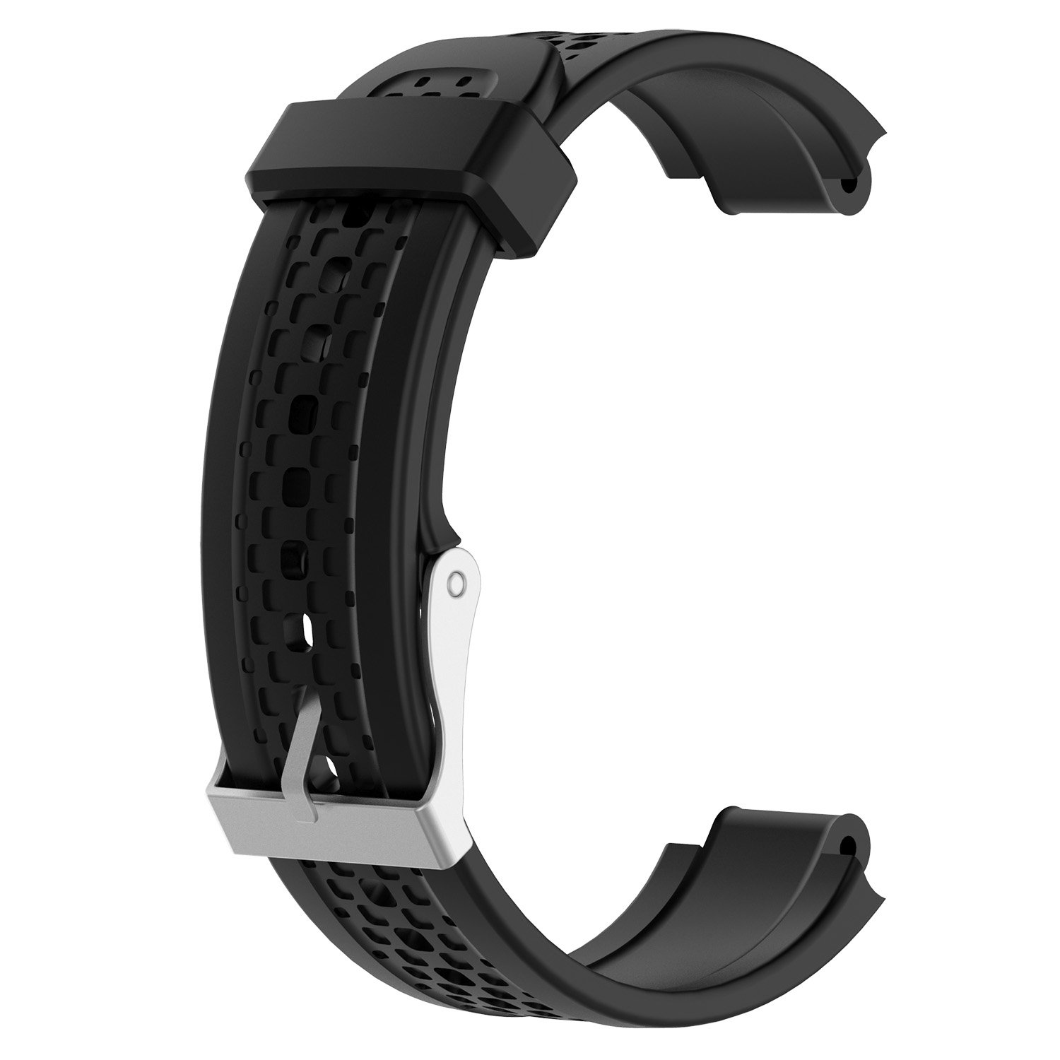 Replacement band for Garmin Forerunner 25 GPS Running Watch Wristband Fitness Tracker for Smartphone(Female strap) (Black)