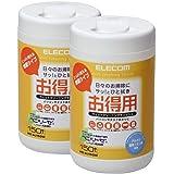 エレコム クリーナー ウェットティッシュ 消臭・除菌タイプ 150枚入り 2本セット WC-AL150W