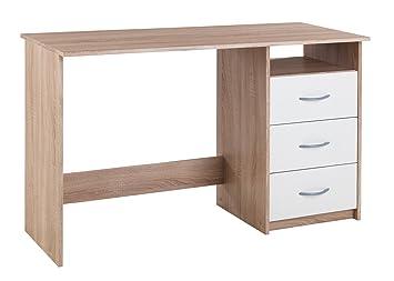 Schreibtisch Computertisch Arbeitstisch Angela 1 Weiß Eiche