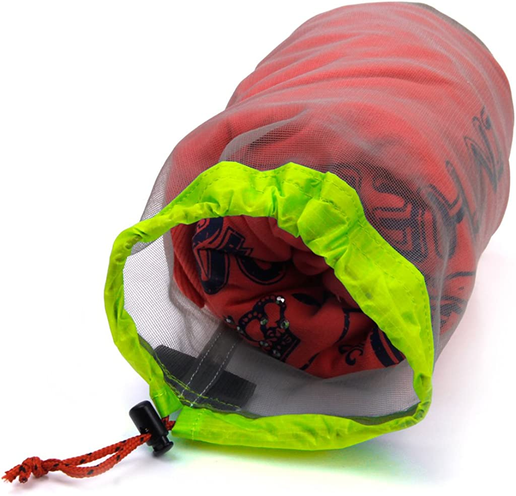 Pack of 3-Size Tavel Camping Sports Ultralight Mesh Sack Drawstring Bags Pouch