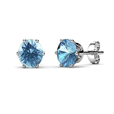 40a81dfd5 Buy Yellow Chimes Crystals from Swarovski Stud Earrings in Macaroon Box for  Women and Girls (Aquamarine) Online at Low Prices in India | Amazon  Jewellery ...