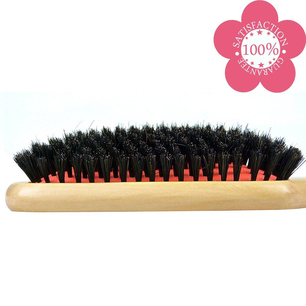 Dianyi Cepillo de pelo bambu pin de 100% Cerdas de Jabalí neumático requeta: Amazon.es: Belleza