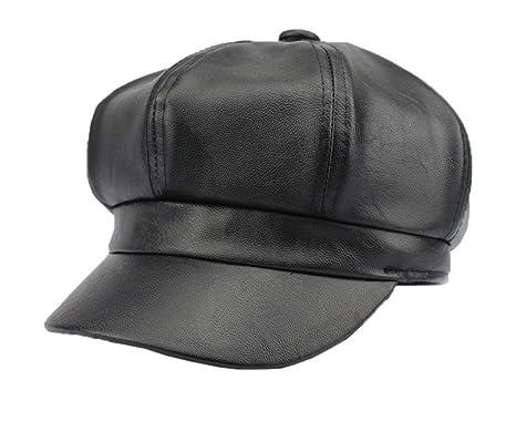 Gorros Gorras Moda Para Mujer Cuero Imitación Gorras Pu De De ...