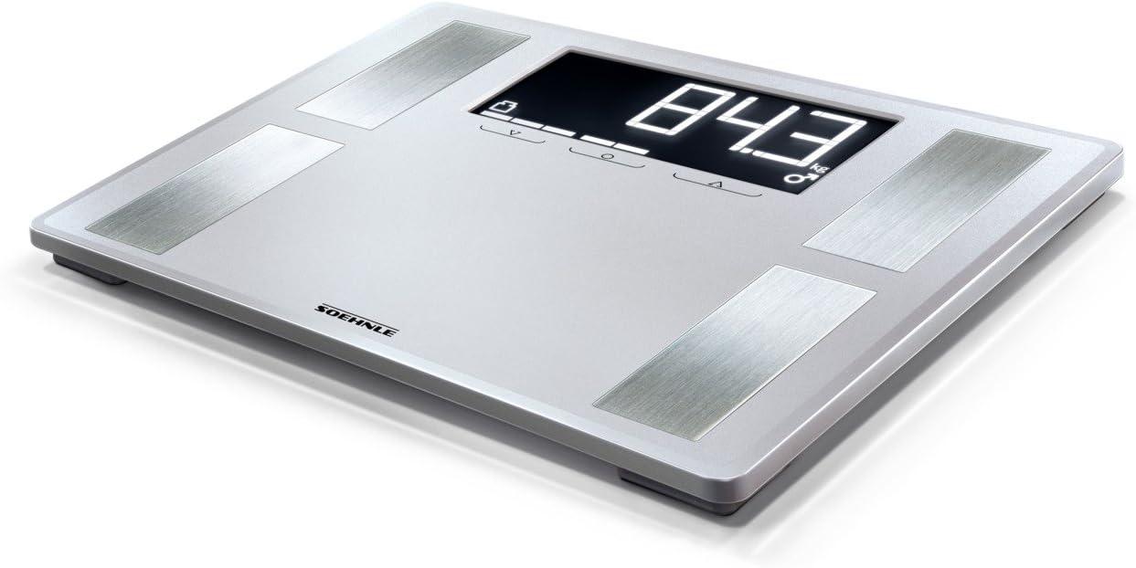 Soehnle Shape Sense Profi 200 - Bascula de analisis corporal, color plata