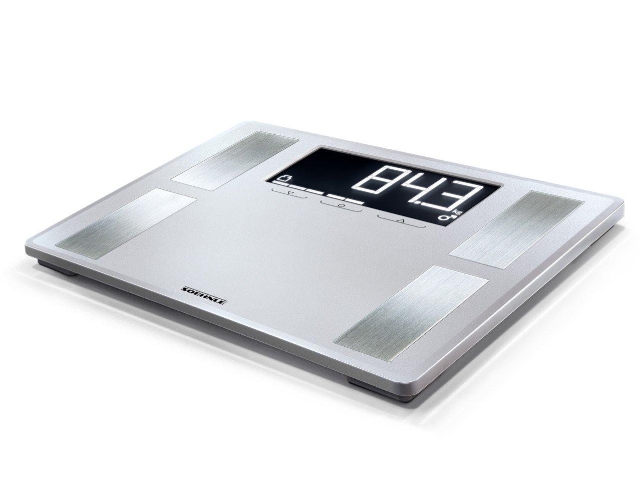 Soehnle Shape Sense Profi 200 - Bascula de analisis corporal, color plata: Amazon.es: Salud y cuidado personal