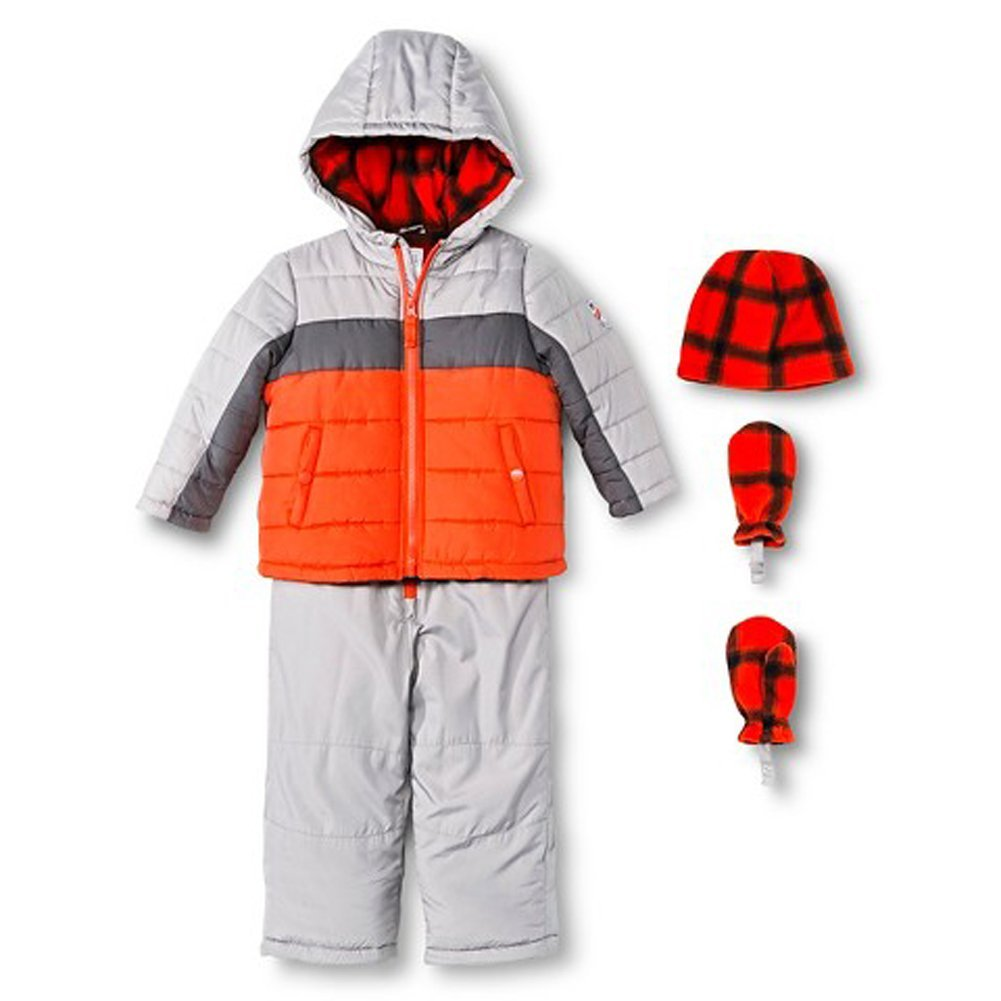 3046e9184 Amazon.com: Carter's Just One You Made by Little Boys Grey Snowsuit Set  with Hat & Mittens (7): Clothing
