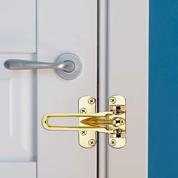 Matogle 2 pcs Pestillo de Acero Inoxidable Cadena de Seguridad para Puerta Delantera con Tornillos Fácil de Instalar Resistente a Oxidación para Hogar Oficina Hotel: Amazon.es: Bricolaje y herramientas