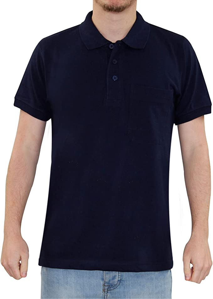 Men Polo Pocket PK T Shirt Navy S: Amazon.es: Ropa y accesorios