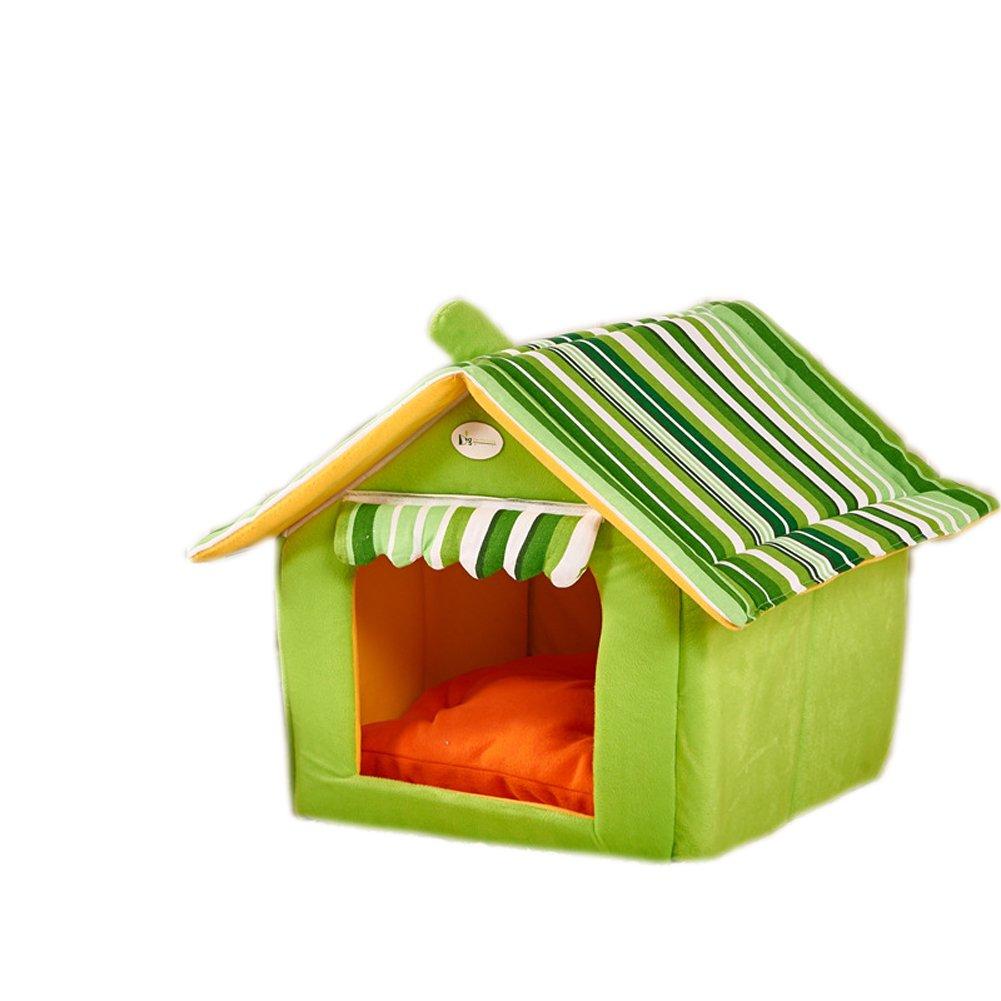 Green XL green XL Loucoy House Shape Large And Medium Sized Dogs, Pet Supplies, Pet Beds Green XL