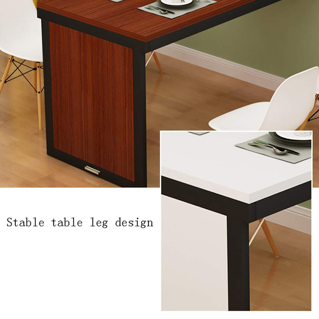 WILK Home Simple kökskonsolbord bord, golvbord med handtag och fällbar, vägglapp-matbord, flera färger finns SVART