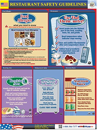 Amazon com : Restaurant Safety Poster : Office Products