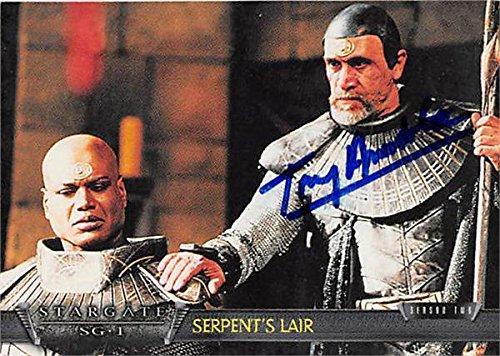 Tony Amendola autographed trading union card Stargate SG1 Master Bratac 2001 #25 Serpents Lair