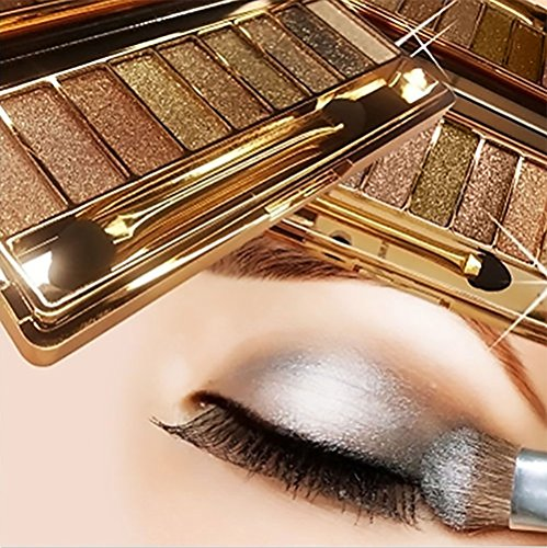 Sparkle Eyeshadow Palette&9 Colors Shimmer Makeup Palette & Makeup Cosmetic Brush Set &Gold Glitter Eyeshadow Palette Highly Shining Pigmented Diamond Eyeshadow&9 Color Eyeshadow 6# (1pc) by vinmax (Image #1)