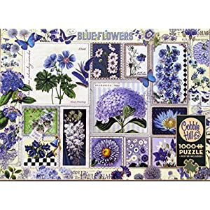 Cobblehill Puzzles 1000 Pc Blue Flowers