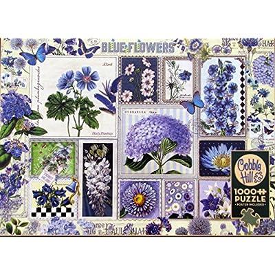 Cobblehill Puzzles 1000 Pc Blue Flowers