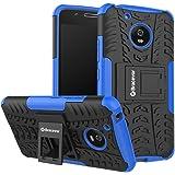 Bracevor Shockproof Motorola Moto G5 [5 inch] Hybrid Kickstand Back Case Defender Cover - Blue