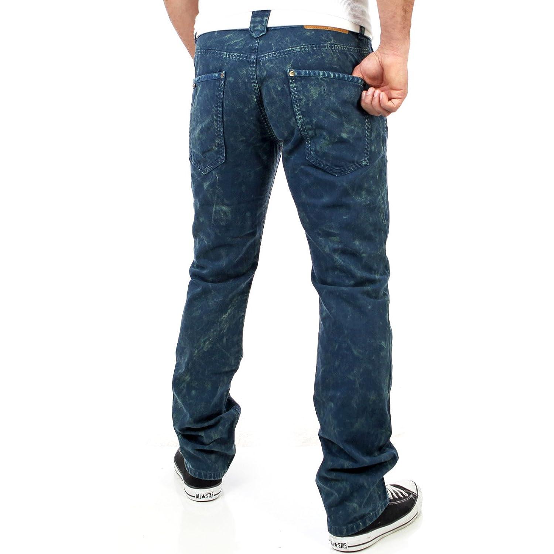 Tazzio Herren Knit Style Jeans Hose TZ-5116 Petrolblau: Amazon.de:  Bekleidung