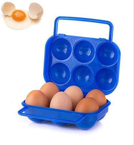 TuHao - Estuche de plástico para 6 o 12 huevos (plegable) A6 Aleatorio: Amazon.es: Grandes electrodomésticos