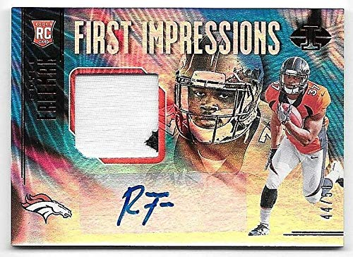 2018 Panini Illusions Red #136 Royce Freeman Patch Autograph RC #44/50