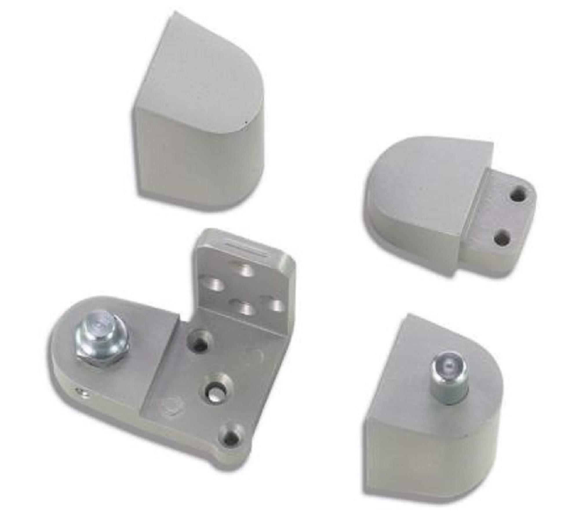 US Aluminum Style Storefront Door Pivot Hinge Set in Aluminum Finish - Choose Handing (Right Hand)