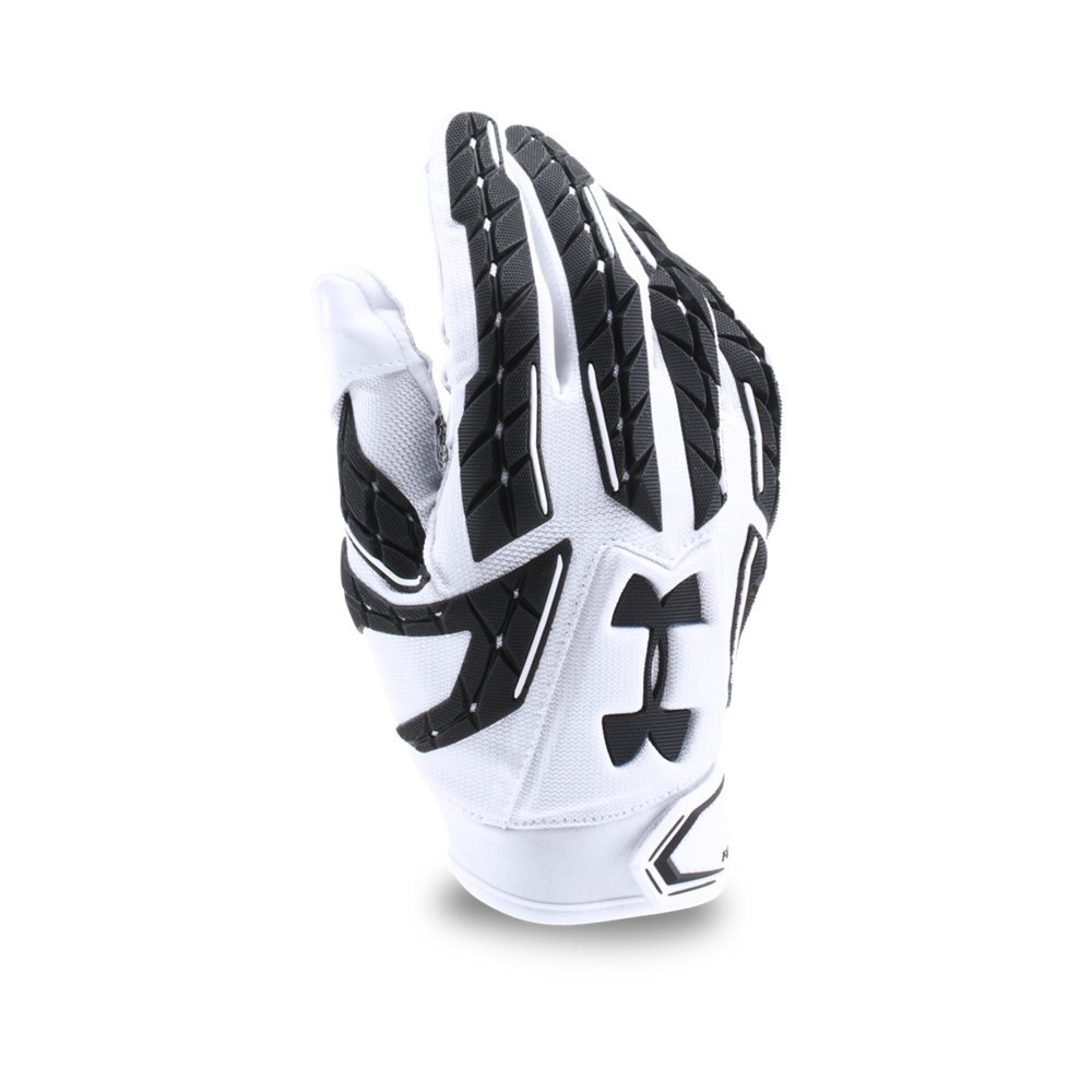 Under Armour Mens Fierce VI Football Gloves, White/Black, Small