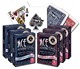 ACE Casino 100% Plastic Playing Cards - 6 Decks