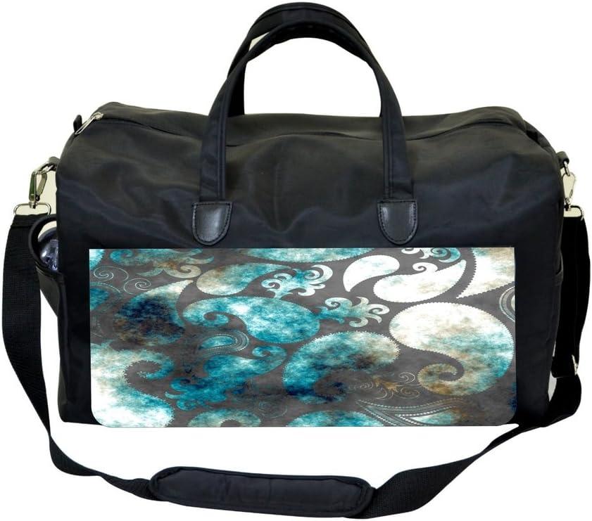 Jacks Outlet Blue Watercolor Grunge Paisley Sports Bag