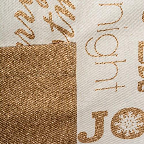 Cotton Christmas Holiday Kitchen Apron - Unisex - Gold